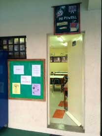 My classroom. Small and basic