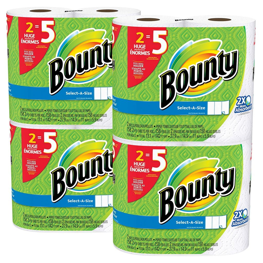 Bounty Select A Size Paper Towels Huge Rolls 8 Ct 1996