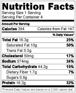 Pasta Nutrition Info