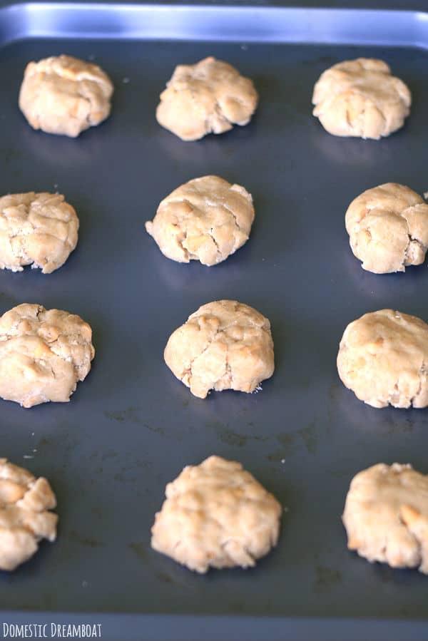 Butterscotch cookie dough