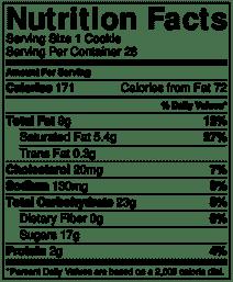 Butterscotch cookie nutrition info