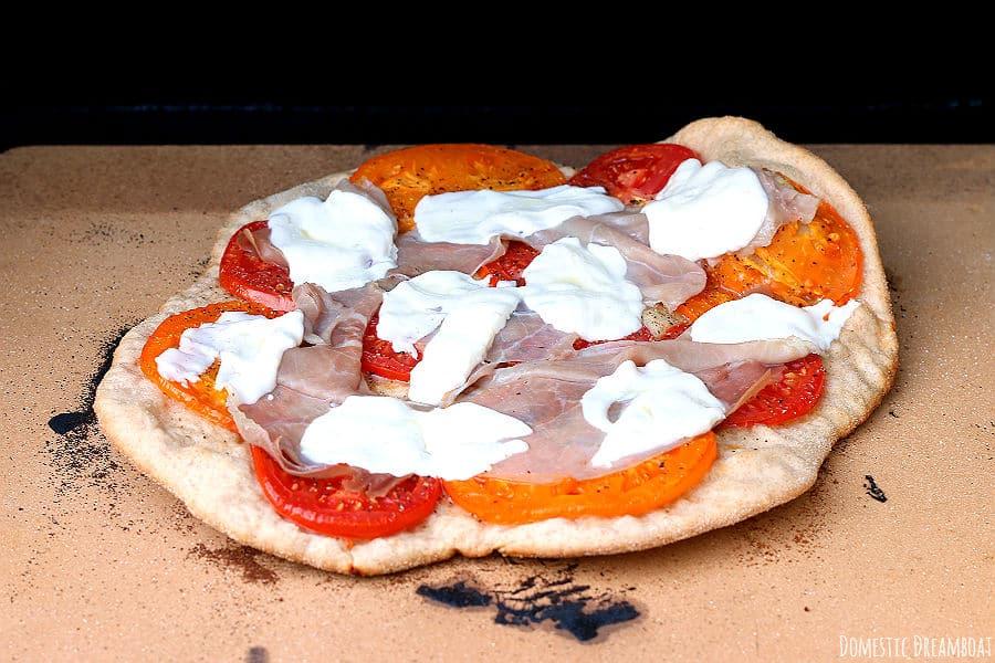 baked pizza without arugula