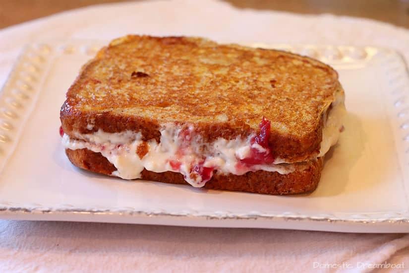 Cherry Cheesecake Stuffed French Toast