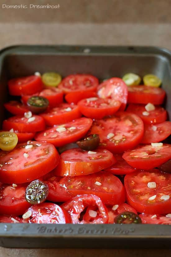 Garlic Roasted Tomatoes