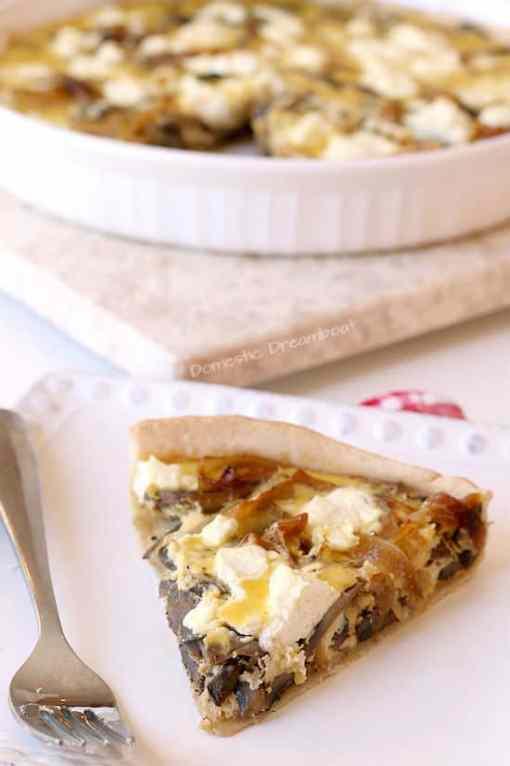 Caramelized Onion and Sauteed Mushroom Quiche