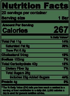Peach Pie Bars Nutrition Info