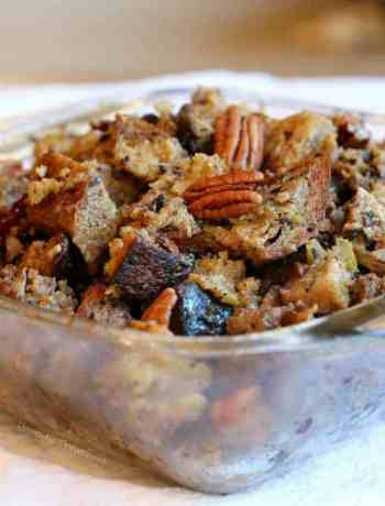 Bread Stuffing with Dried Cranberries and Pecans
