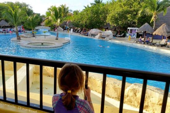 Admiring the pool from the ice cream bar - Riviera Maya vacation