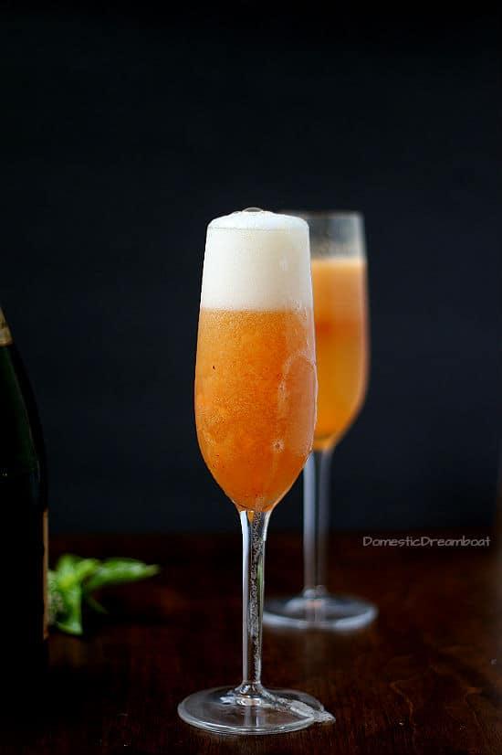 Simple Fresh Peach Bellini
