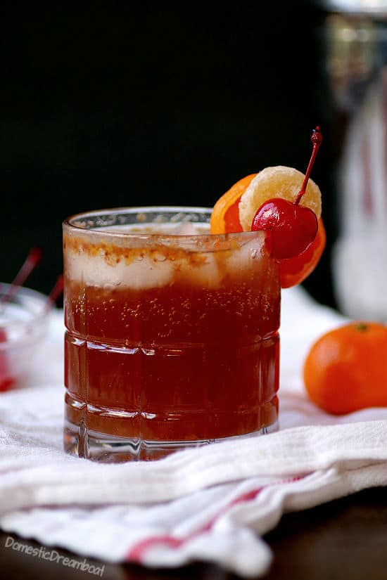 Gingered Brandy Old Fashioned