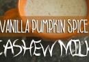 Vanilla Pumpkin Spiced Cashew Milk