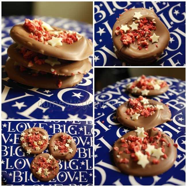 Strawberry and White Chocolate Edible sparkle treats
