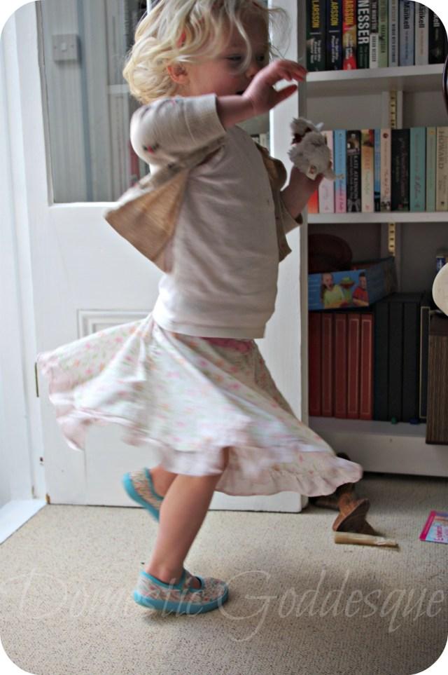 pillowcase skirt twirling