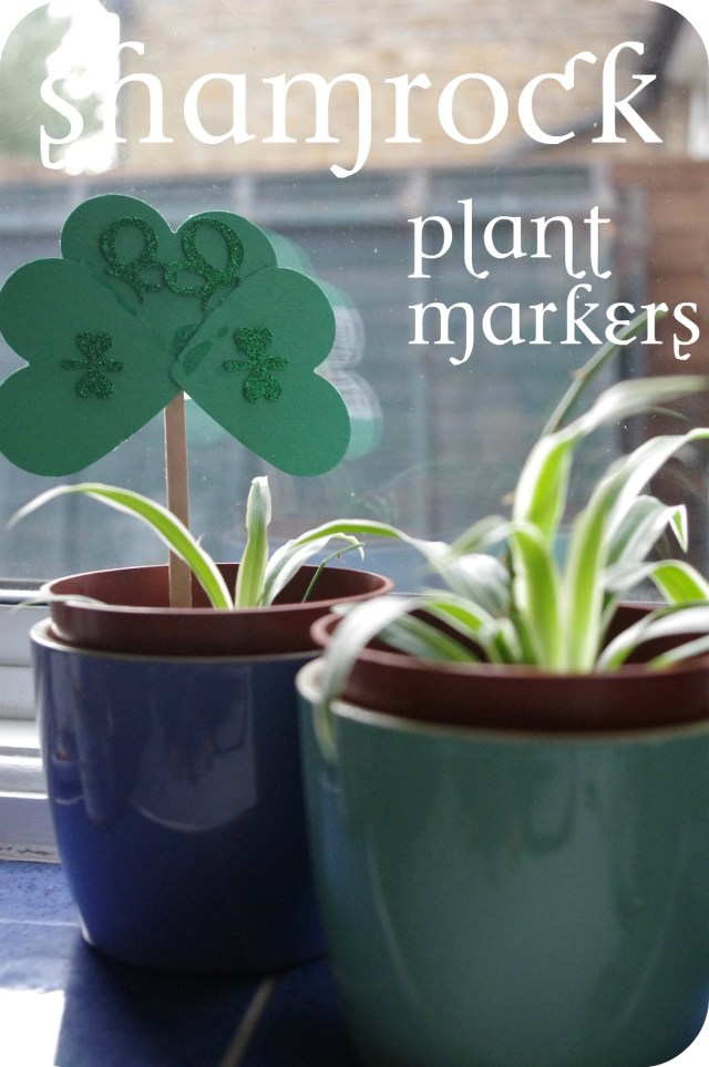 how to make shamrock plant marker