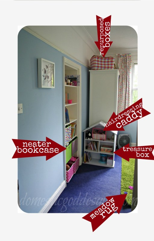 improved bedroom toy storage