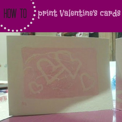 How to print Valentine's cards using styrofoam take-away boxes