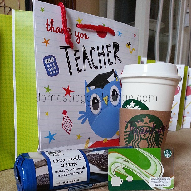 coffee gift for a teacher
