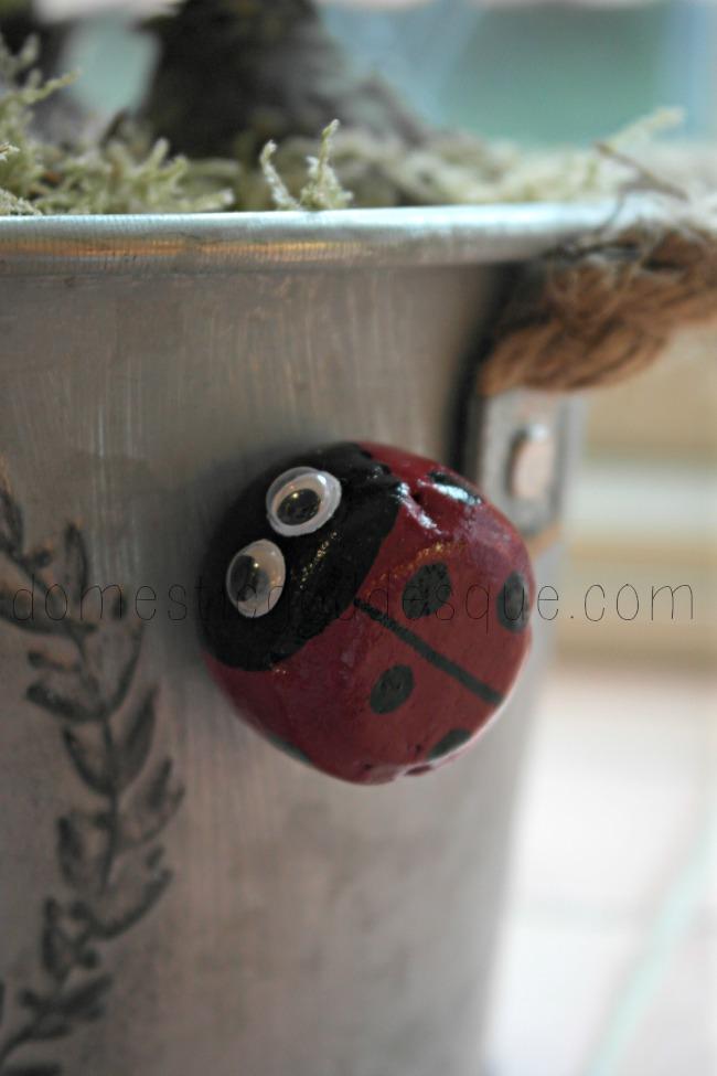 ladybug cork magnet