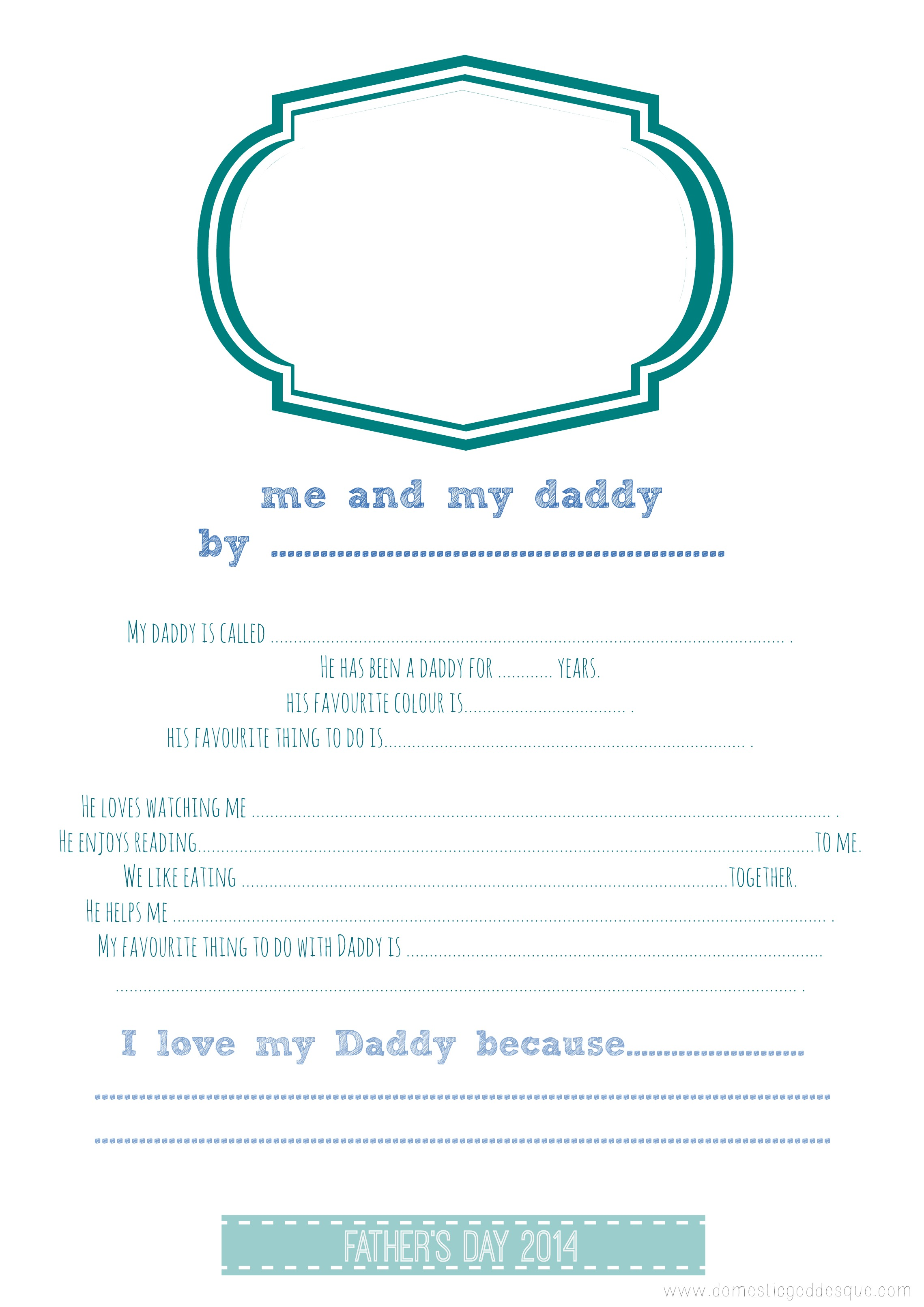 Father S Day Printables 12 Great Dad Craft Ideas