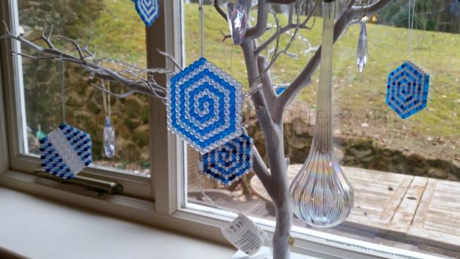 Frozen fractals Hama Bead Tree Craft