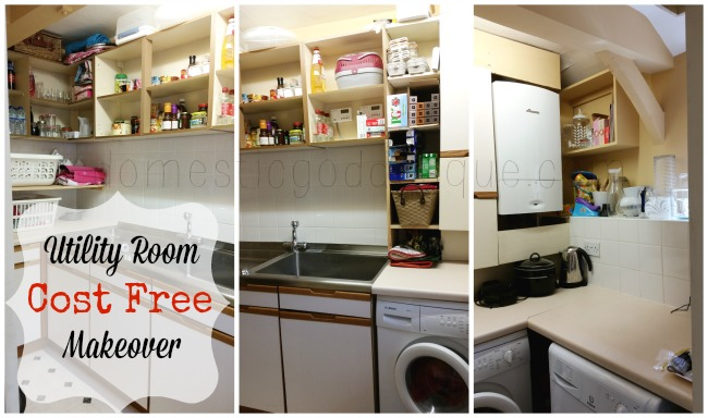 Cost Free Utility Room Laundry Room Makeover
