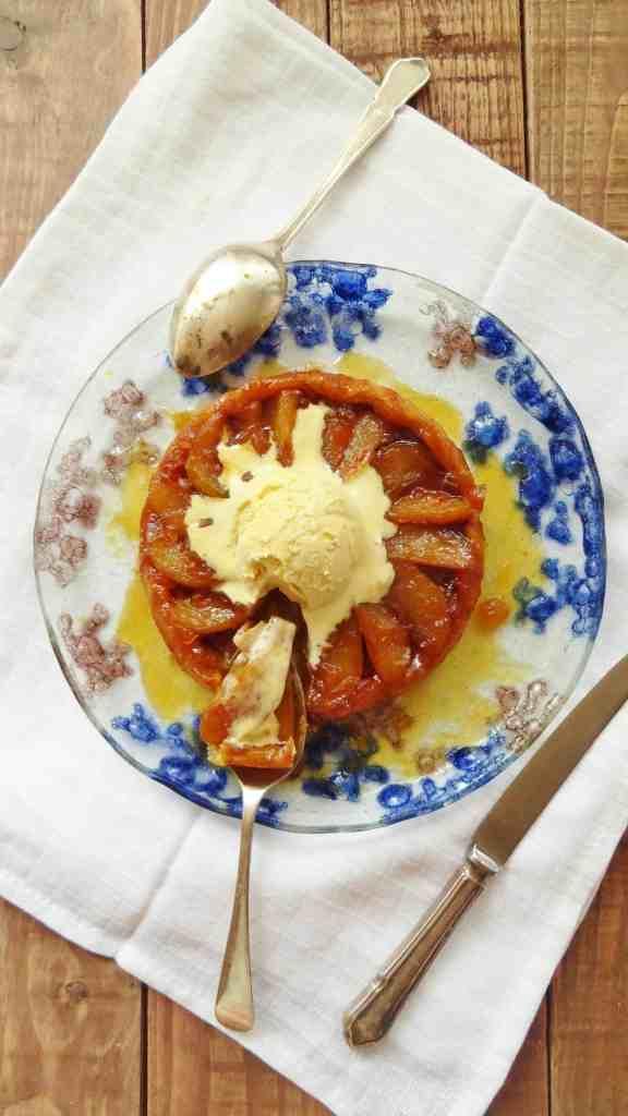 pear & ginger tart tatin for two