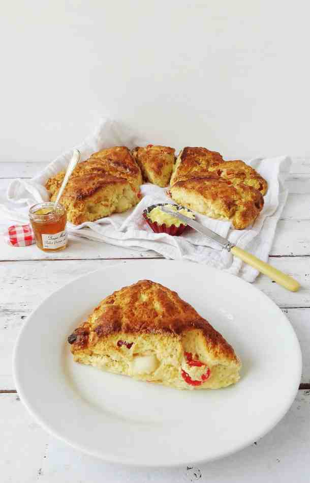 Marzipan and cherry scones - Domestic Gothess