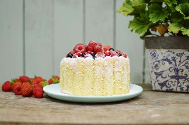 Mixed Summer berry Charlotte Russe - Domestic Gothess recipe