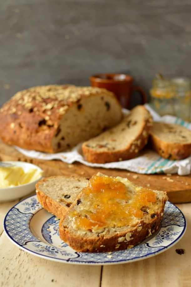 Muesli bread, a hearty, fruit-filled breakfast loaf - Domestic Gothess