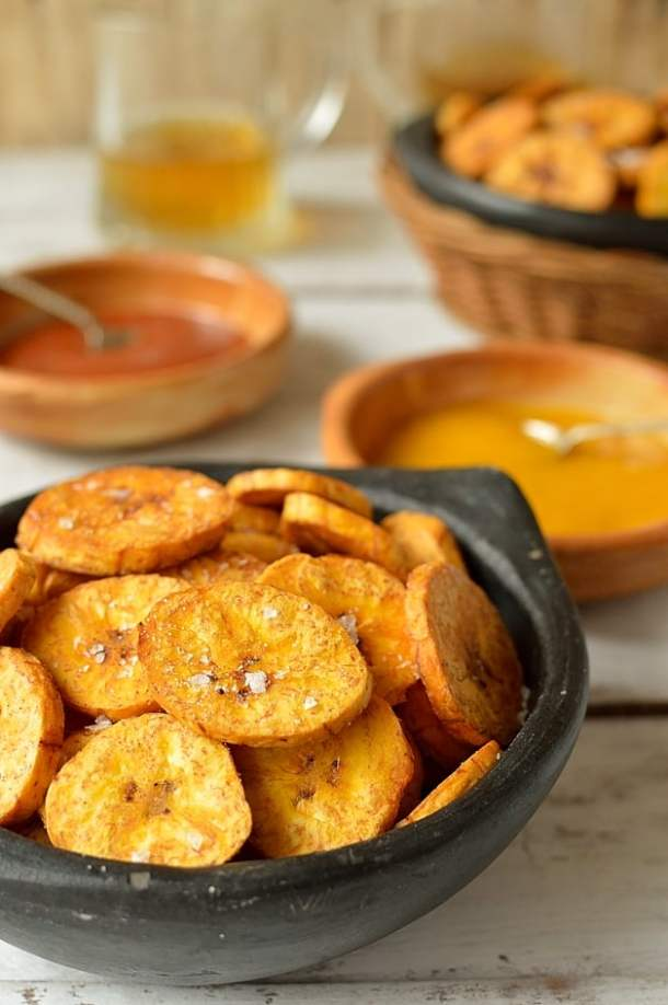 Crispy plantain fries - Domestic Gothess