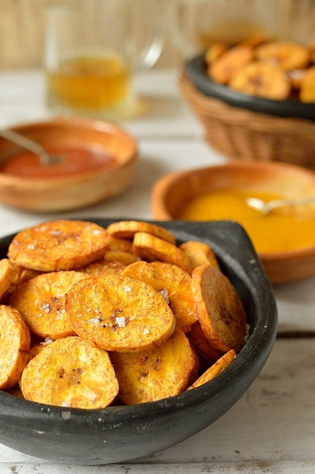 Crispy plantain fries - Domestic Gothess