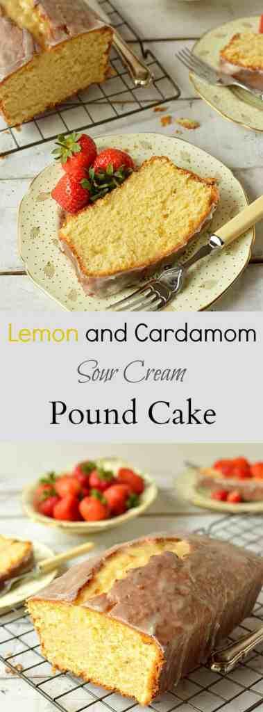 Lemon and cardamom sour cream pound cake  - Domestic Gothess