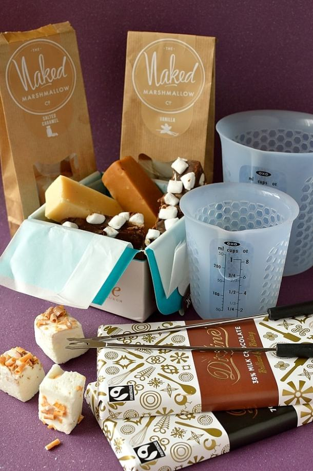 Oxo and Divine chocolate hamper
