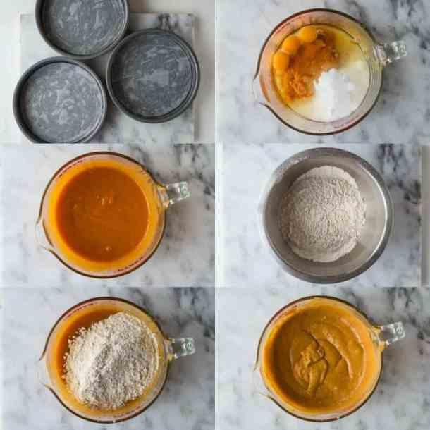 pumpkin layer cake step 1