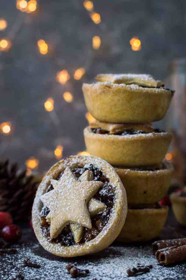 Lighter mince pies - you can enjoy a festive mince pie even if you are trying to cut down on the sweet stuff as these ones have no added sugar, are lower in calories and vegan too!