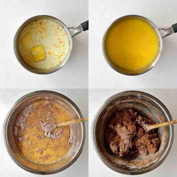 chocolate orange hot cross buns step 2