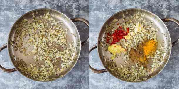 red lentil dhal step 1