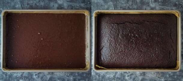 vegan chocolate sheet cake step 3