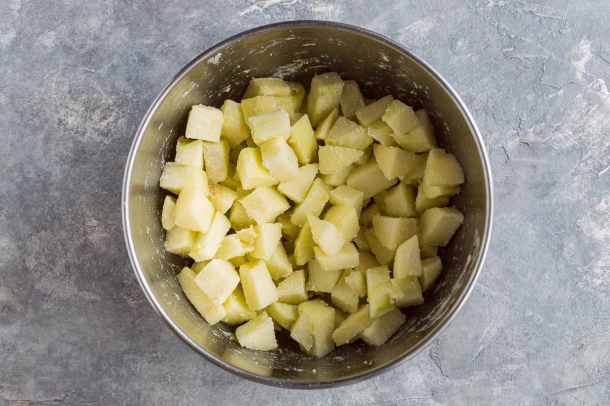 vegan apple bundt cake step 2