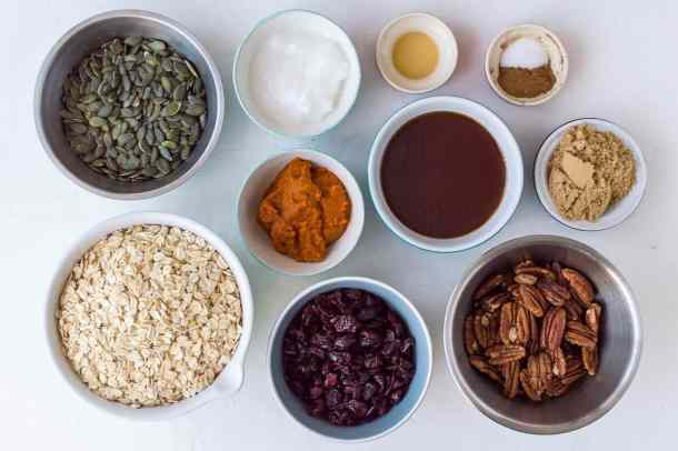 pumpkin spice granola ingredients