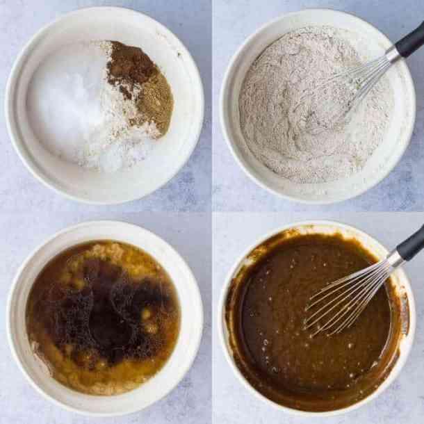 vegan ginger cakes step 1 - making the batter