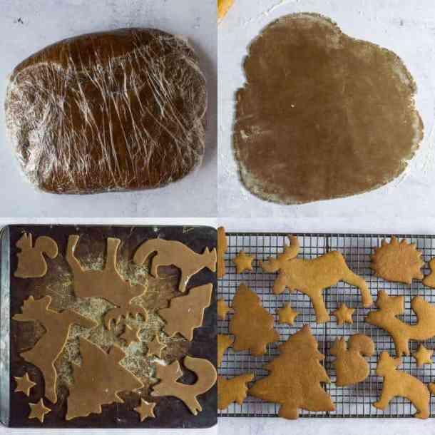 vegan gingerbread cookies step 2 - baking the cookies