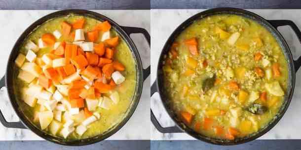 vegetable and pearl barley stew step 2