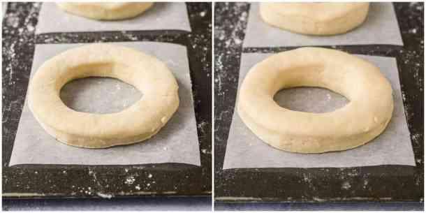 vegan glazed doughnuts step 5 - the second rise