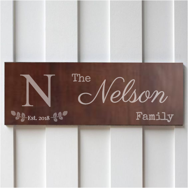 family established signs DIY