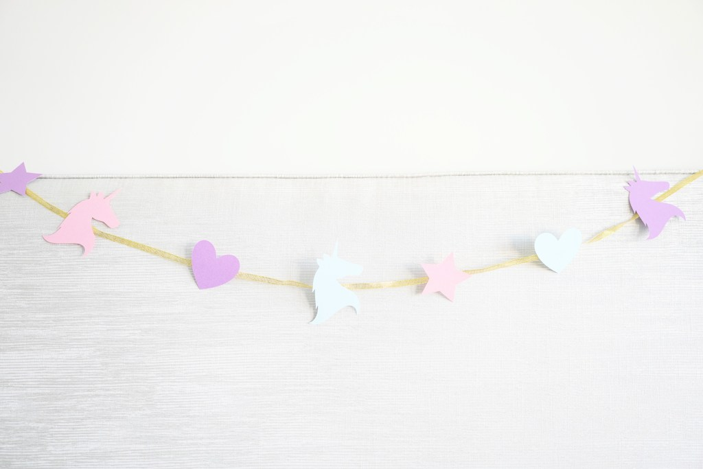 Unicorn garland cutouts