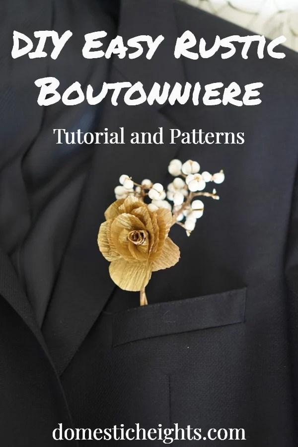 DIY Rustic Boutonniere tutorial