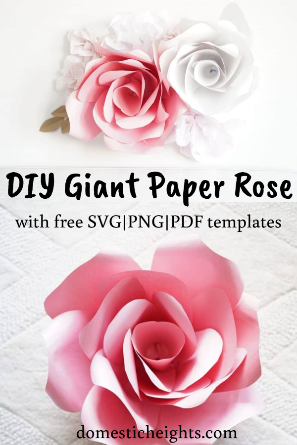 large paper flower template for cricut, giant paper rose, giant paper flower template printable free