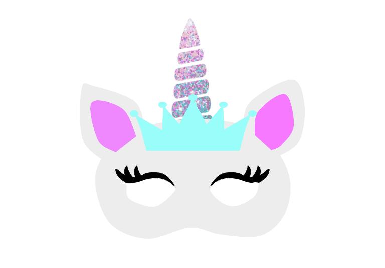 This is a photo of Printable Unicorn Mask within unicorn sparkle photo