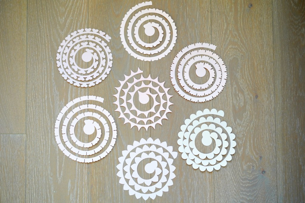 Free Rolled Paper Flower Templates